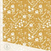 DERNIER COUPON Jersey Flora Gold 30 x 160 cm