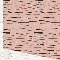 Jersey Stripes Dusty Pink 20 x 160 cm