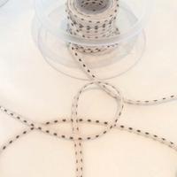 Cordon Première Etoile ministar meringue étoiles noires 1 m