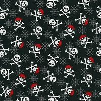 Tissu Fabulous foxes - pirates fond noir 20 x 110 cm