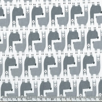 Tissu Suzy's minis - Lama gris 20 x 110 cm