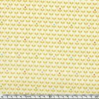 Tissu Forest Parade petite fleur fond jaune 20 x 110 cm