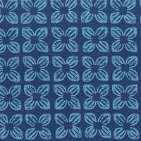 Tissu Block Flower bleu 20 x 110 cm