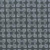 Tissu Block Flower gris 20 x 110 cm