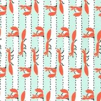 Tissu Renards Foxy Fellas fond menthe 20 x 110 cm