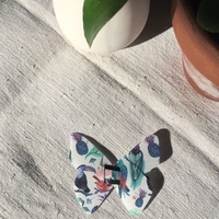 Barrette Papillon Midi Tout Silo Liberty Birds of Paradise
