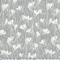 DERNIER COUPON EXCLU Liberty Velours Hesketh gris clair 75 x 140 cm