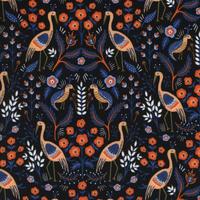 Tissu Rifle Paper Les Fleurs Tapestry 20 x 110 cm