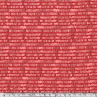 DERNIER COUPON Jersey mini tirets fond rouge 60 x 140 cm