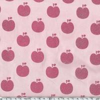 Jersey Pomme paillettes rose 20 x 140 cm