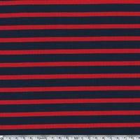 Jersey rayures rouge et marine 20 x 140 cm