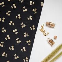 DERNIER COUPON Cherries gold, tencel coloris noir 100 x 140 cm