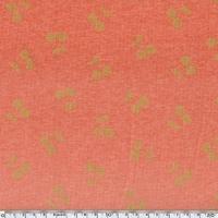 DERNIER COUPON Cherries gold, molleton chiné coloris corail 100 x 140 cm