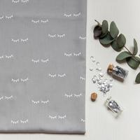 Sleepy Eyes, poly/coton coloris poivre blanc 20 x 140 cm