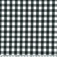Tissu Vichy noir 20 x 140 cm