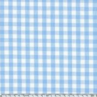 Tissu Vichy bleu ciel 20 x 140 cm