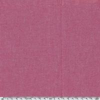 Tissu coton effet chambray framboise 20 x 140 cm