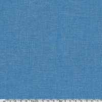 Tissu coton effet chambray bleu 20 x 140 cm