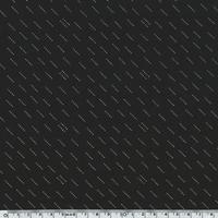 Crêpe lisse noir motif blanc cassé et doré 20 x 140 cm