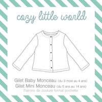 Patron Gilet baby Monceau et Mini Monceau (3 mois - 14 ans)