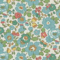 PETIT COUPON Liberty Betsy turquoise 45 x 65 cm