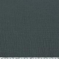 Tissu double gaze de coton coloris gris 20 x 140 cm