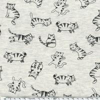 Jersey chats fond chiné 20 x 140 cm