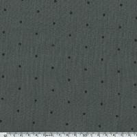 Tissu double gaze de coton à pois coloris taupe 20 x 140 cm