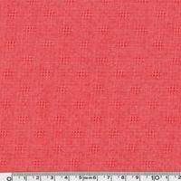 Tissu gaze ajourée coloris corail 20 x 140 cm