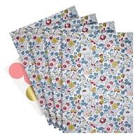 10 sachets en papier Liberty Betsy porcelaine