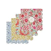 20 serviettes en papier Liberty, motifs assortis
