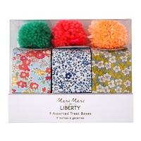 9 petites boîtes cadeaux Liberty