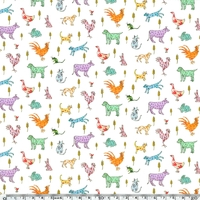Liberty Farmyard Tails coloris A 20 x 137 cm