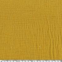 Tissu double gaze de coton coloris moutarde 20 x 135 cm