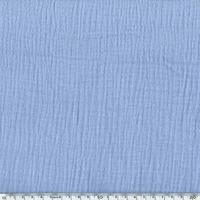 Tissu double gaze de coton coloris bleu ciel 20 x 135 cm