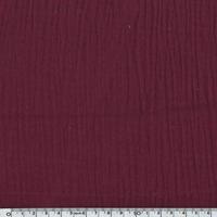 Tissu double gaze de coton coloris burgundy 20 x 135 cm