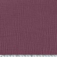 Tissu double gaze de coton coloris cassis  20 x 135 cm