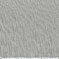 Tissu double gaze de coton coloris gris taupe 20 x 135 cm