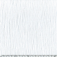 COUPON double gaze de coton coloris blanc 30 x 135 cm