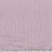 Tissu double gaze de coton coloris lilas 20 x 135 cm