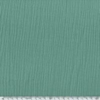 Tissu double gaze de coton coloris vert 20 x 135 cm