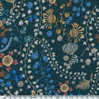 Liberty Crochet Meadow dark blue coloris A 20 x 137 cm
