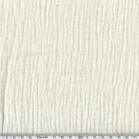 DERNIER COUPON Tissu double gaze de coton coloris blanc cassé 25 x 135 cm