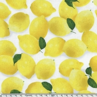 DERNIER COUPON Tissu Citrons 1m05 x 110 cm
