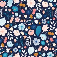 Tissu Millefleur fleurs 20 x 110 cm