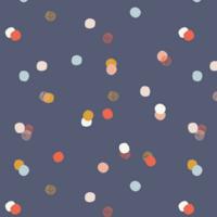 Jersey Navy Dots 20 x 150 cm