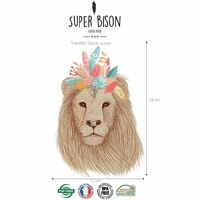 Transfert textile Lion