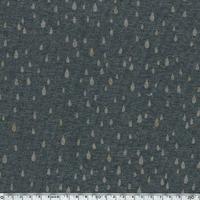 Pluie d'or, molleton gris chiné 20 x 140 cm