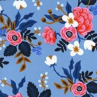 Viscose Rifle Paper Les Fleurs Birch floral bleu clair 20 x 110 cm