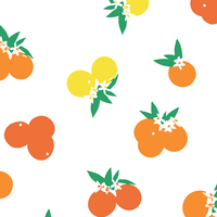 COUPON Tissu Fiesta Fun Citrus Sunrise 1m x 110 cm